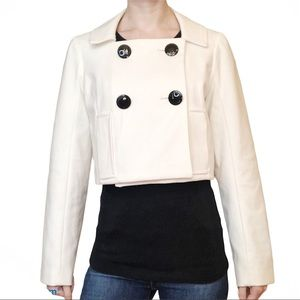 Adrienne Vittadini Double Breasted Cropped Jacket